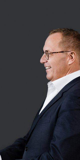 Der Gründer und Geschäftsführer Florian Schatz des Consulting Unternehmens SHS in Österreich